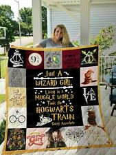 Harry Potter - Just a Wizard girl - Quilt Blanket, Fleece Blanket