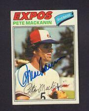 Pete MacKanin 1977 Topps #156 Expos Autographed Signed w/COA jh55