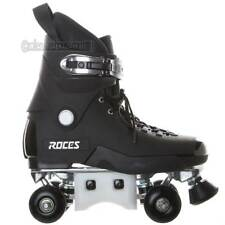 Roces Pro 4 Aggressive Quad Roller Skates Black Mens 8.0 New