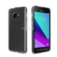 Clear Slim Gel Case & Glass Screen Protector for Samsung Galaxy Xcover 4 SM-G390