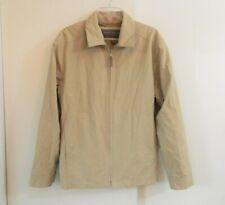 mens beige MARC NEW YORK jacket coat outerwear windbreaker zip up casual S SMALL