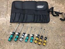 WERA Kraftform 8 piece Screwdriver Set in Draper Tool Roll Torx, Pz, Ph & Slot