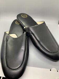 Men's L.B. Evans Aristocrat Black Leather Casual Slippers Barely Worn SZ 15EEE