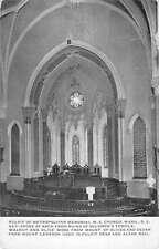 Washington DC ME Church Pulpit Memorial Interior Antique Postcard K26349
