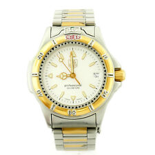 TAG HEUER WF1220-K0 PROF 200M WHITE DIAL 2-TONE GOLD+S.S. WATCH FOR PARTS/REPAIR