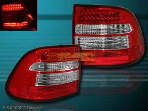 "03-06 PORSCHE CAYENNE ""L.E.D."" TAIL LIGHTS LED RED CLEAR 04 05 NEW"
