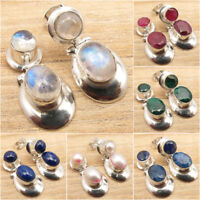 925 Silver Plated Traditional Multistone Earrings ! Discount Jewelry