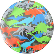 DINOSAUR Dino-Mite SMALL PAPER PLATES (8) ~ Birthday Party Supplies Cake Dessert