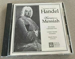Audio CD Compact Disc George Frideric Handel: Highlights Messiah 717794698923