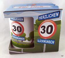 Tasse Kaffeetasse 30.Geburtstag Kaffeepott Geschenk im Geschenkkarton