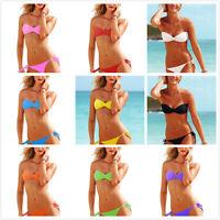 Chic Sexy Women's Swimwear Beachwear Lingerie Bikini Top Strapless Set Swimsuit