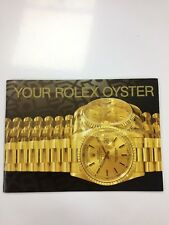 Usa 2.1999 - Printed in Switzerland Rolex Your Oyster Booklet Vintage 579.52