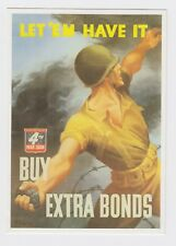 Imperial War Museum 'Let 'Em Have It' USA War Bonds Postcard