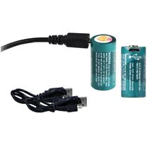 2-Pack: Olight RCR123A Rechargeable Batteries w/ Built-in Micro USB for S1 MINI