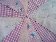 PINK wedding Fabric Bunting 40 Shabby Handmade flower Baby chic