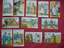 SERIE DE 12 CPA cartes postales anciennes humoristiques militaires  ww2 ,MAY'R