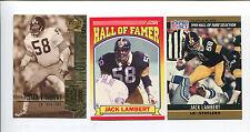 Jack Lambert 3 card lot Kent St. Golden Flashes / Pittsburgh Steelers