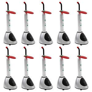 Dental cordless Polymerisationslampe LED Curing Light lamp 2000mW D8 Rod Tip