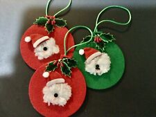 "3 hand crafted Old English sheepdog "" hand crafted ornaments"
