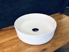 Bathroom Ceramic Round Thin Edge Above Counter Top Basin for Vanity Pop-Up Waste