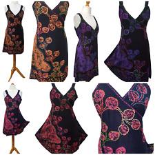 Plus Size Wrap Dress All Season Floral Hand Embroidered Batik Hippie 16 18 20 22