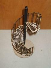 More details for dolls house spiral staircase kit laser cut wood 1:12 scale miniature