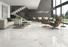 Marble Effect Gloss Porcelain Wall & Floor Cut Tile Satvario Samples 10x10