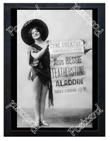 Historic Bessie Featherstone in 'Aladdin' 1890s Advertising Postcard