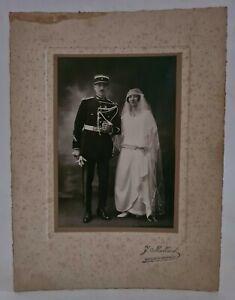 Ancienne photo Mariage d'un Gendarme / Militaire / Policier du début du XXème