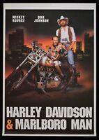 Manifesto Harley Davidson & Marlboro Man Rourke Don Johnson Moto Car Cinéma P12