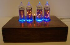 Nixie clock warm light tubes retro style alarm clock calendar free thermometer