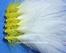 blue flash attractor size 16 Salmoflies 3 x Goldhead Yellow Dancer Lure