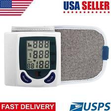 LCD Digital Wrist Blood Pressure Monitor Heart Rate Beat Pulse Meter Measure US