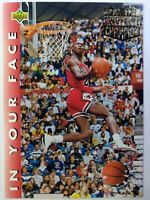 1992-93 Upper Deck In Your Face Michael Jordan #453, Chicago Bulls, HOF