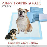 300pcs Puppy Pet Dog Pads 60x60cm Indoor Cat Toilet Training Absorbent AU