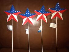 Patriotic Star Yard Stakes Set of Four