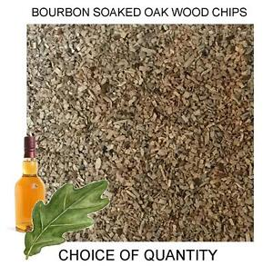 Quality Bourbon Soaked Oak Wood Chips for Smoking Ovens, Whisky Oak Smoker Wood