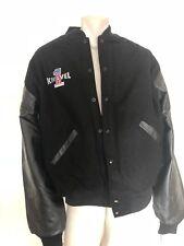 Genuine Original Leather / Wool Varsity Evel Knievel Jacket Sz 3XLarge . Rare!