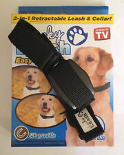 LUCKY LEASH - As Seen On TV - Retractable Magnetic Leash Collar -L/XL-36-80 Lbs