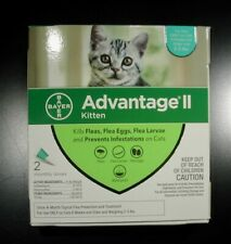 Bayer Advantage Ii Small Cat/Kitten 2-5 lbs (2 Pack) Comes w/Box 100% Genuine!