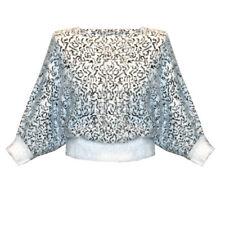Womens Ladies Sof Fluffy Leopard Print Batwing Sleeve Sweater Jumper Top UK 8-16