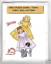 Sisters dolls Upside Down - Topsy Turvy Rag Doll - Cloth Pattern # 2980 vintage