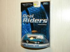 HOT WHEELS 2005 REAL RIDERS SERIES 1967 PONTIAC GTO RUBBER TIRES LIMITED EDITION