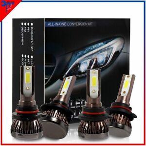 9005 + 9006 LED Headlights fog light 200W MINI High Low Beam Bulbs 6000K White