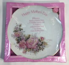 Mother's Day Roses Porcelain Plate Commemorative Edition Robert Laessig 1977