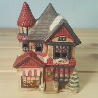 Vintage Holiday Christmas Village Collectible Ceramic Toy Shop Light Display