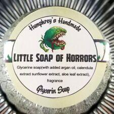 LITTLE SOAP OF HORRORS Halloween Soap, Glow in the Dark Glycerin Bar Argan Oil