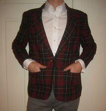 Tartan PLAID Dinner Party XS S SMALL vtg Suit Sport Coat Jacket Blazer Christmas