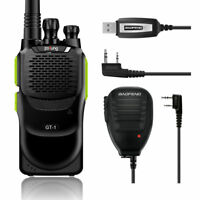 Baofeng GT-1 + MICRÓFONO + Cabel 1500mAh FM Walkie Talkie EMISORA Radio Verde