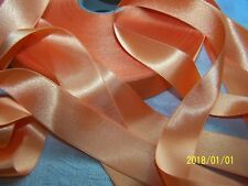 ANCIEN RUBAN EN SATIN DOUBLE FACE. SPLENDIDE. HAUT DE GAMME. Orange. N°112